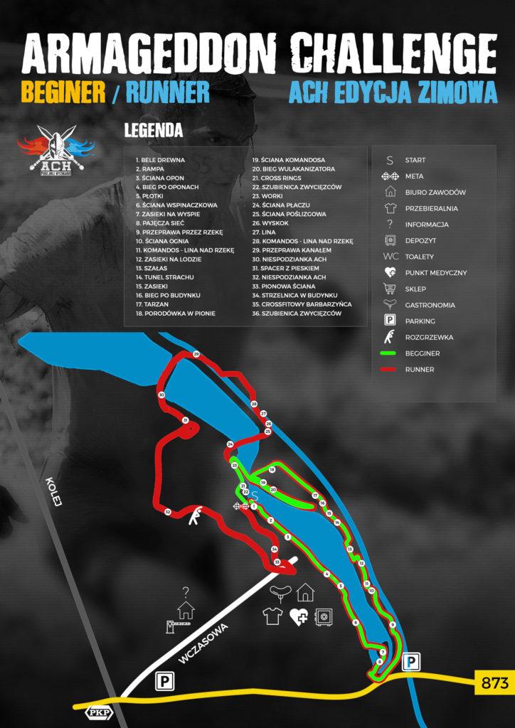 ACH_Edycja_Zimowa_Trasa Armageddon Challenge biegi z przeszkodami biegi ekstreamlne