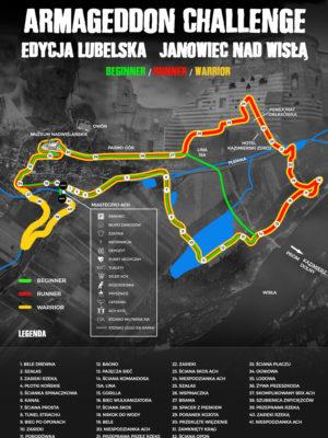 ACH Janowiec Trasa Armageddon Challenge lubelskie biegi przedszkodwe